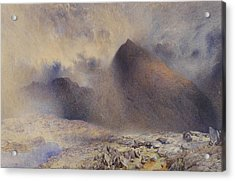 Mount Snowdon Through Clearing Clouds Acrylic Print by Alfred William Hunt