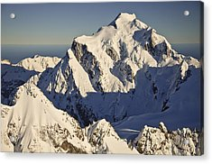 Mount Tutoko At Dawn Hollyford Valley Acrylic Print by Colin Monteath