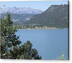 Mountain Lake Acrylic Print by Lee Manning