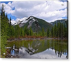 Mountain Pond Reflection Acrylic Print by Roderick Bley