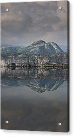 Mountain Reflection Acrylic Print by Andy Astbury