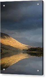Mountain Reflection In Water Acrylic Print by John Short