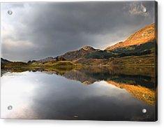 Mountain Reflection In Water, Loch Acrylic Print by John Short