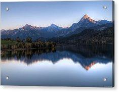 Mountain Reflections Acrylic Print by Ryan Wyckoff