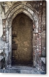 Mountain View Cemetery Tomb - Number 1 Acrylic Print by Gregory Dyer