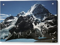 Mountain With Glacier And Snow Acrylic Print by Kelly Redinger