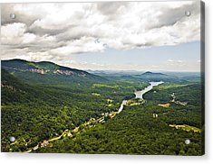 Mountains With Lake In The Valley Acrylic Print by Susan Leggett