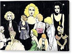 Movie Ladies Montage Acrylic Print by Mel Thompson