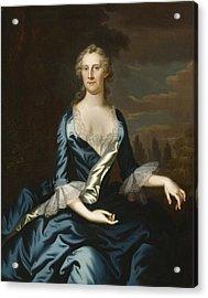 Mrs. Charles Carroll Of Annapolis Acrylic Print by John Wollaston