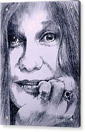 Ms. Joplin Acrylic Print by Robbi  Musser