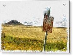 Mt Dora - Sketch Acrylic Print by Nicholas Evans