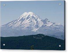 Mt. Rainier Seen From The Yakima Valley Acrylic Print by Sisse Brimberg