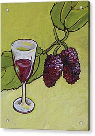 Mulberry Wine  Acrylic Print by Sandy Tracey