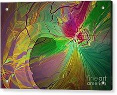 Multi Colored Rainbow Acrylic Print by Deborah Benoit