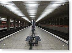Munich Subway No.1 Acrylic Print by Wyn Blight-Clark