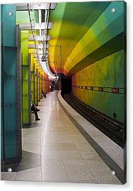Munich Subway No.2 Acrylic Print by Wyn Blight-Clark