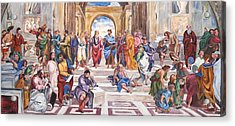 Mural After Raphael Acrylic Print by Becky Kim