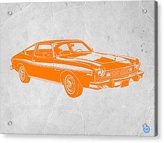 Muscle Car Acrylic Print by Naxart Studio