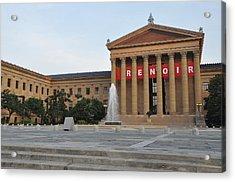 Museum Of Art - Philadelphia Acrylic Print by Bill Cannon
