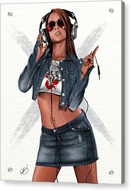 Music Is My Hot Hot Sex Acrylic Print by Pete Tapang