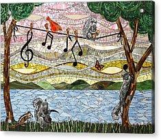 Music Play Acrylic Print by Barbara Benson Keith