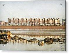 Mussel Encrusted Rocks Acrylic Print by larigan - Patricia Hamilton
