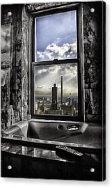 My Favorite Channel Is Manhattan View Acrylic Print by Madeline Ellis