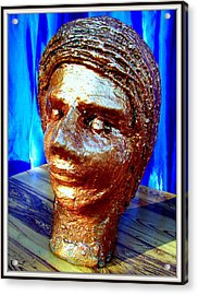My Model Face Acrylic Print by Anand Swaroop Manchiraju