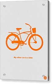 My Other Car Is Bike Acrylic Print by Naxart Studio