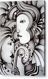 My Three Warriors Acrylic Print by Simona  Mereu