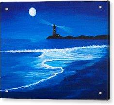Mystic Shore Acrylic Print by Linda Bennett