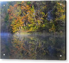 Mysty Morn On The Current Acrylic Print by Marty Koch