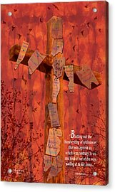 Nailing My Sins To The Cross Acrylic Print by Cindy Wright