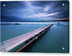 Narrabeen Tidal Pool By Night, Sydney, Australia Acrylic Print by Yury Prokopenko