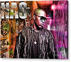 Nas Acrylic Print by The DigArtisT