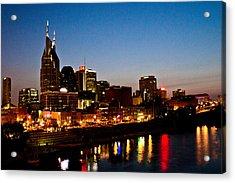 Nashville Skyline Acrylic Print by Elizabeth Wilson