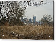 Nashville Skyline From The Fort Acrylic Print by Douglas Barnett