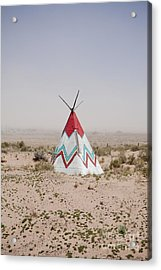 Native American Tipi Replica Acrylic Print by Paul Edmondson