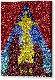 Nativity Mm Candy Mosaic Acrylic Print by Paul Van Scott