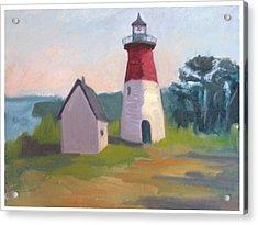 Nauset Lighthouse Cape Cod Acrylic Print by Suzanne Elliott