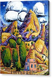 Navaho Trading Post Acrylic Print by Charlie Spear