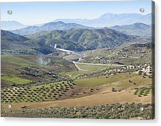 Near Casabermeja, Spain. Countryside. Acrylic Print by Ken Welsh
