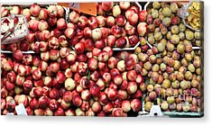 Nectarines And Pluots - 5d17905 Acrylic Print by Wingsdomain Art and Photography
