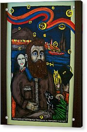 Ned Kelly Befriends The Devil Acrylic Print by Victor Maloney