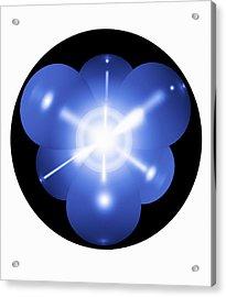 Neon Atom, Artwork Acrylic Print by Mehau Kulyk