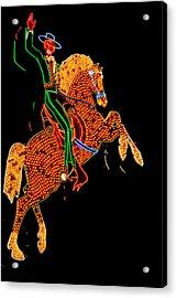 Neon Cowboy Las Vegas Acrylic Print by Garry Gay