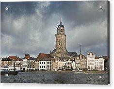 Netherlands, Deventer, City Skyline Acrylic Print by Frans Lemmens