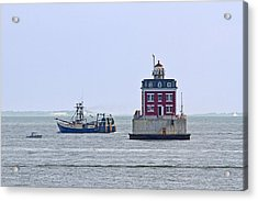 New London Ledge Lighthouse. Acrylic Print by David Freuthal