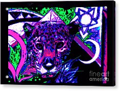 New Mu Jaguar Acrylic Print by Susanne Still