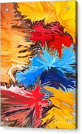 New Years Acrylic Print by Chris Butler